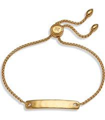 monica vinader engravable havana friendship chain bracelet in gold at nordstrom