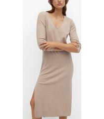 mango women's fine knitted dress