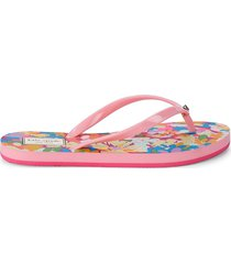kate spade new york women's fiji floral thong sandals - painted petal - size 6