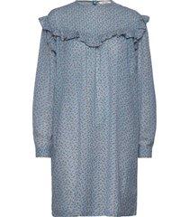satine dress kort klänning blå nué notes