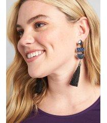 lane bryant women's statement tassel earrings onesz night sky