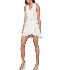 bcbgmaxazria faux-wrap ruffled dress