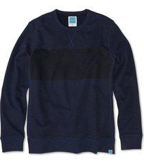 men's jason scott chest stripe pullover, size x-small - blue
