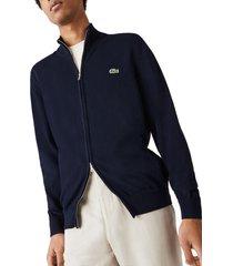 men's lacoste two way zip jacket, size 8 - blue