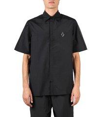 a-cold-wall black nylon logo label shirt