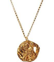 24kt gold-plated bronze dog necklace