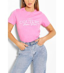 couture printed t-shirt, pink