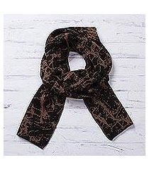 alpaca blend reversible scarf, 'marbled beauty' (peru)