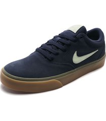 tenis skateboarding azul-beige nike sb chage  suede