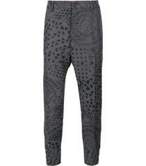 vivienne westwood man buckle cuff trousers - grey