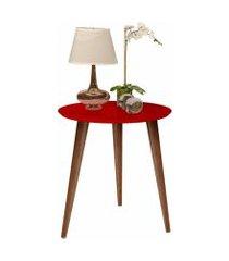 mesa de apoio retrô cissa - vermelho - compre aqui
