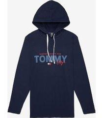 tommy hilfiger men's tommy drawstring hoodie navy - xxl