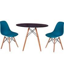 conjunto mesa de jantar impã©rio brazil - azul/incolor - dafiti