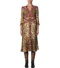 etro animal print dress