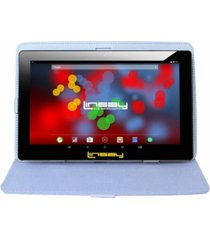 "10.1"" 1280 x 800 ips screen quad core 2gb ram tablet 32gb android 10 with white leather case"