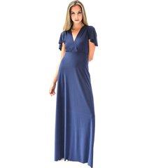vestido largo york azul marino ly maria paskaro