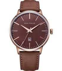 reloj análogo f0115gl-2 hombre café