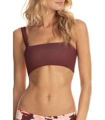 women's maaji bailey dazzling 4-way reversible bikini top, size small - brown