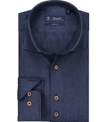 sleeve7 overhemd donkerblauw linnen chambray