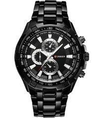 reloj cuarzo analogico militar curren 8023 negro