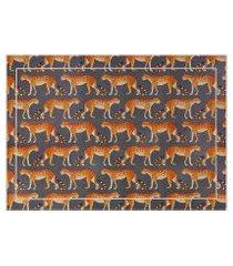 amaro feminino easy home design kit jogo americano, guepardo laranja