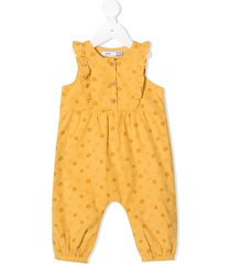 knot yvonne floral print jumpsuit - yellow