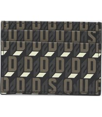 dsquared2 card holder with all-over monogram print