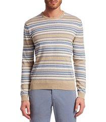 collection stripe crewneck cotton sweater
