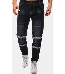 jeans da uomo lavati per biker folds