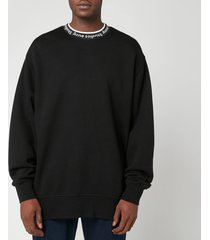 acne studios men's logo jacquard sweatshirt - black - xl