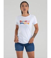 camiseta blanco-multicolor levi's
