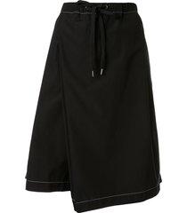 marni drop-crotch shorts - black