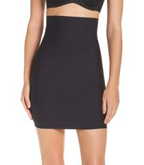 women's yummie high waist smoother skirt slip, size x-large - black
