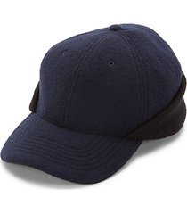 rib-trimmed ball cap