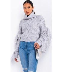 akira lauren heavy knit sweater