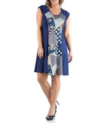 24seven comfort apparel women's plus size a line dress