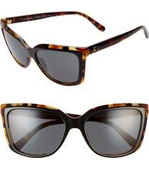 women's coach 56mm cat eye sunglasses -