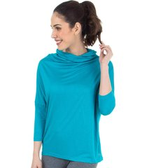 blusa gola ampla azul splash - 506.829 marcyn active camisetas fitness multicolorido