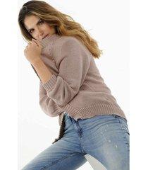 buzo para mujer topmark, tejido y fondo entero