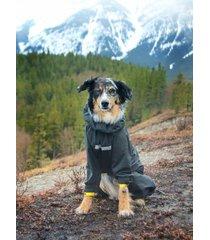 hurtta slush combat pet dog suit waterproof breathable outfit graphite/yellow