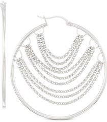simone i. smith chain hoop earrings