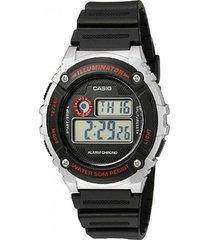 reloj casio w_216h_1cv negro resina hombre