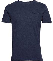 alder tee t-shirts short-sleeved blå knowledge cotton apparel