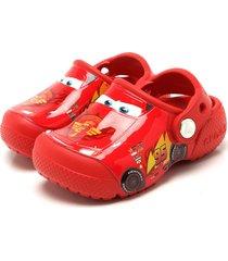 babuche crocs fun lab cars clog k vermelha