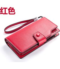 gran capacidad cartera para mujer/ long ladies wallet-rojo