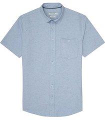 camisa manga larga textura para hombre 04886