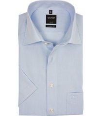 olymp korte mouw overhemd lichtblauw strijkvrij