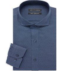 trim-fit textured dress shirt