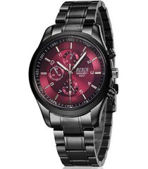 reloj cuarzo casual acero inoxidable bsk12 color vinotinto