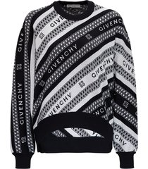 givenchy chaine wool sweater with logo